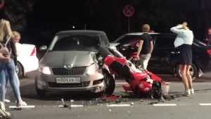 В центре Брянска разбился мотоциклист