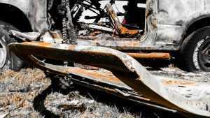 В Брянске на улице Литейной утром сгорел грузовик