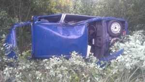 В Почепском районе водитель перевернувшейся «Оки» поломал ребра