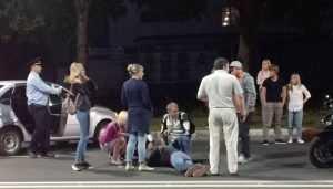 В центре Брянска разбился лихач на мотоцикле