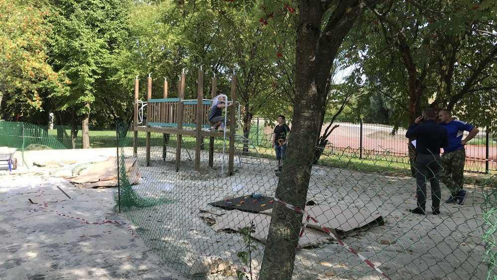В Брянске парк «Соловьи» дополнили новой детской площадкой