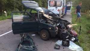 Стали известны подробности гибели мотоциклиста в ДТП под Брасовом