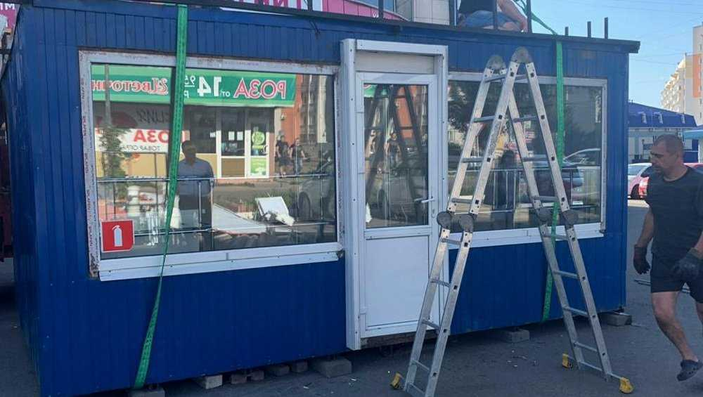В Брянске во второй раз убрали незаконный киоск упрямого бизнесмена