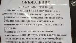 Жителей брянской многоэтажки попросили не ходить в туалет два выходных дня