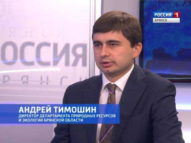 Интервью директора департамента природных ресурсов и экологии Брянской области Андрея Тимошина