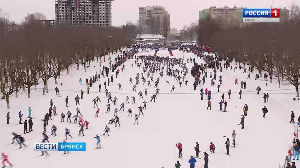 Брянцы вышли на «Лыжню России»